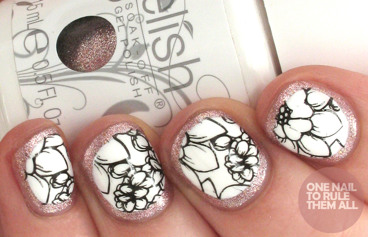 One Nail To Rule Them All: Daisy Dixon Rose Gold Floral Nail Art