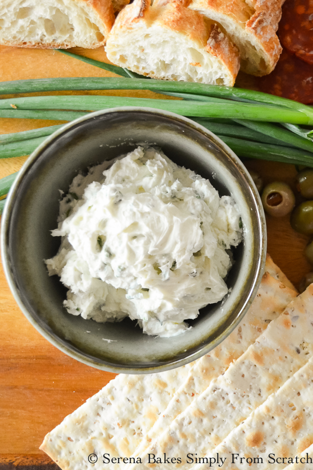 Herbed Goat Cheese Spread - Serena Bakes Simply From Scratch