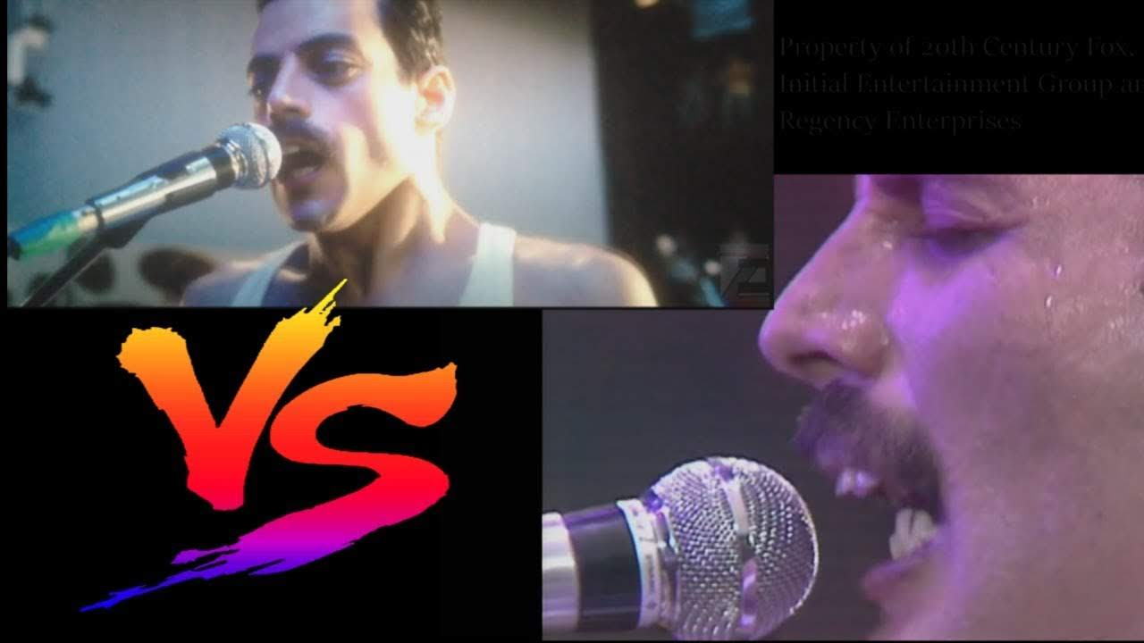 Bohemian Rhapsody vs Real Life Queen - Live Aid Shot for Shot Remake : 全米週末興行ランキング初登場第1位の「ボヘミアン・ラプソディ」が再現した伝説的なライヴ・エイドのステージと、実際のクイーンのパフォーマンスを並べてみた比較ビデオ ! !