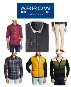 Arrow | Arrow Newyork | Arrow Sports Men's Clothing – 50% to 70% Off + 10% Cashback @ Amazon
