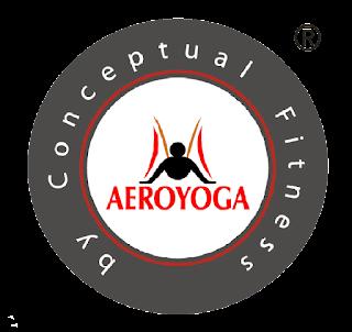 LOGO OFICIAL AEROYOGA® INTERNATIONAL AEROYOGA BY CONCEPTUAL FITNESS®  MARCAS REGISTRADAS, UNICO METODO EN YOGA AEREO  HOMOLOGADO  INTERNACIONALMENTE,