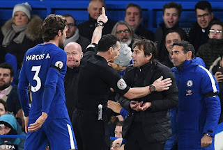 Sport: Premier League: Conte apologizes after sent off against Swansea