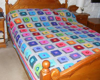 Hand crochet shadow blanket