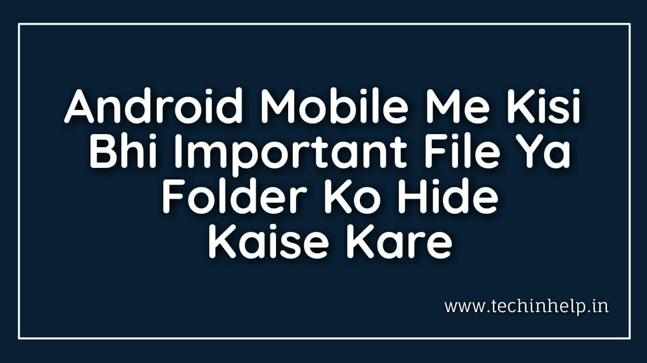 Hide folder and files