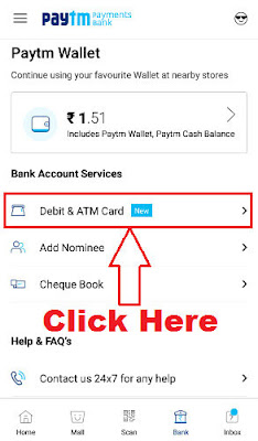 how to block paytm virtual debit card on paytm