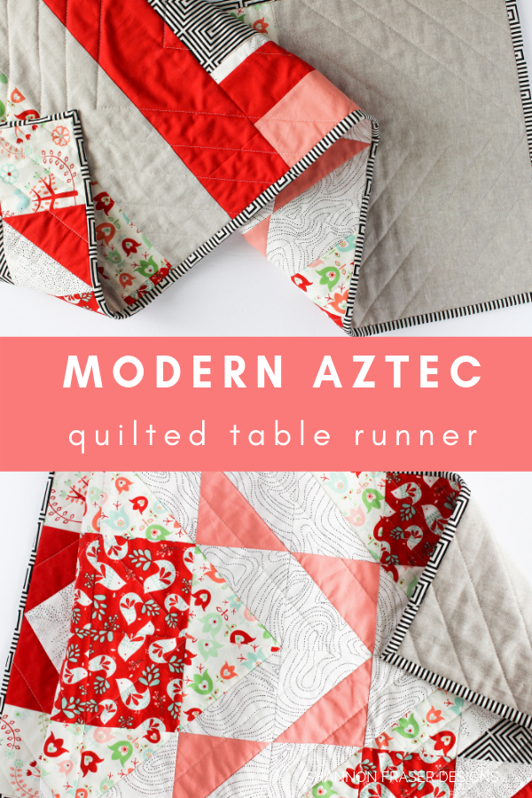 Modern Aztec Table Runner | Q2 FAL 2019 | Shannon Fraser Designs