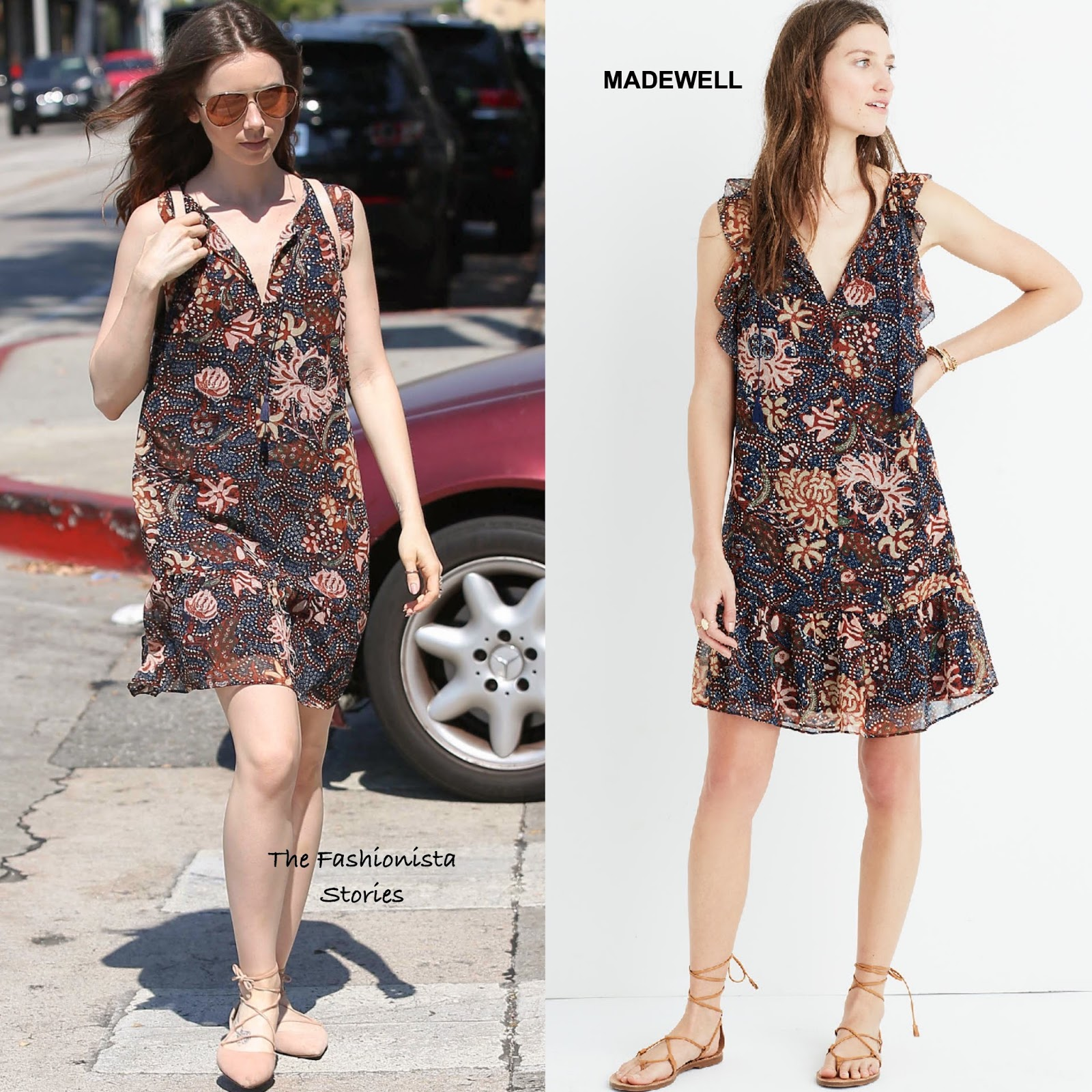 Lily Collins In Madewell Out In La