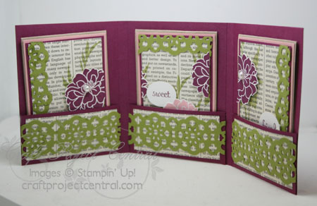 Kris Kilkenny Fabulous Florets Trifold Card Holder