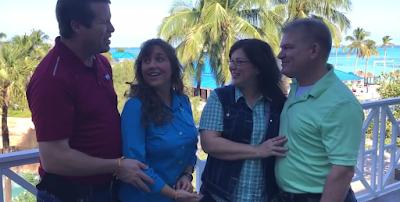 Gil and Kelly Bates in Bahamas with Jim Bob and Michelle Duggar