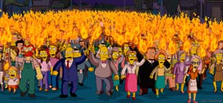 People of Springfield The Simpsons Movie 2007 animatedfilmreviews.filminspector.com