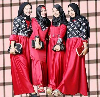 Model Baju Gamis Batik Yang Kekinian