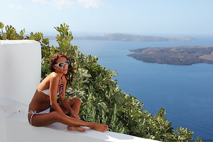 best white bikini looks for Greek islands
