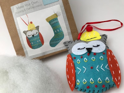 Festive felt owl crafting kit