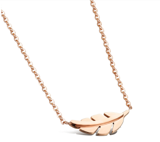 Korean Fashion Leaf Design Collarbone Pendant Necklaces
