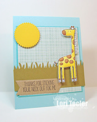 Thanks for Sticking Your Neck Out for Me card-designed by Lori Tecler/Inking Aloud-stamps from My Favorite Things