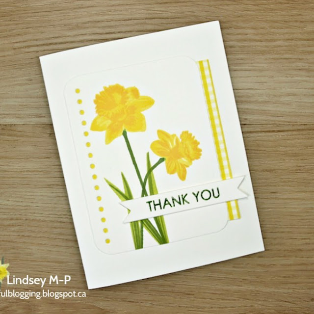 Sunny Studio Stamps: Daffodil Dreams Customer Card Share by Lindsey M