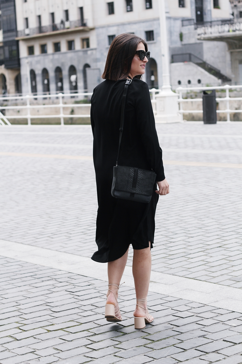 COS BLACK DRESS, CELINE SUNGLASSES