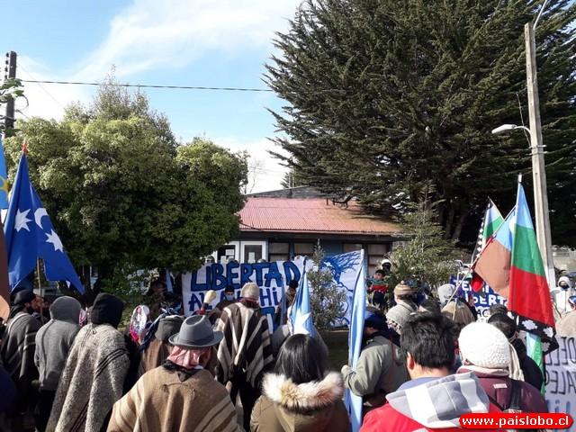 Manifestación Mapuche