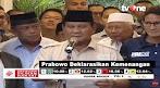 Prabowo Deklarasikan Kemenangan Sebagai Presiden Terpilih