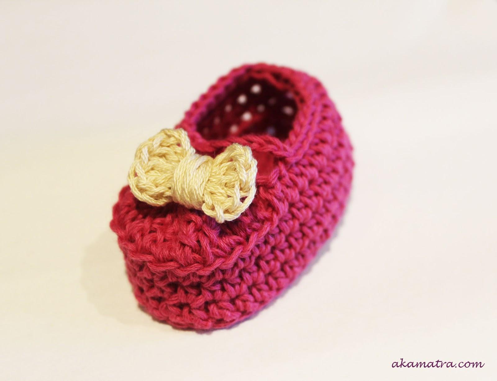 Baby shoes crochet pattern Akamatra