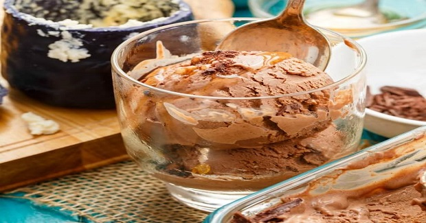 Dark Chocolate Blue Cheese Ice Cream With Honey Recipe