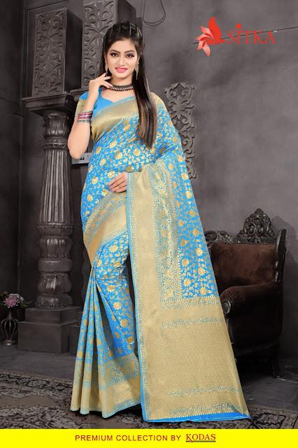 Sitka Swarna pari 5 kodas Handloom Silk Wedding Saree wholesale