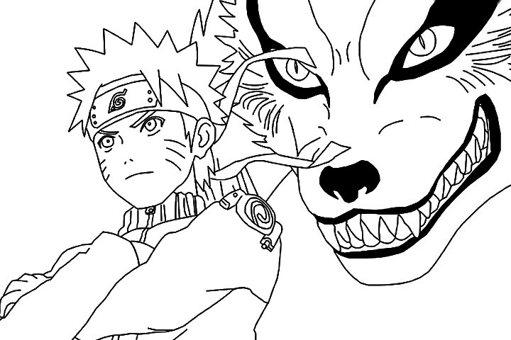 naruto coloring pages | Just Colorings