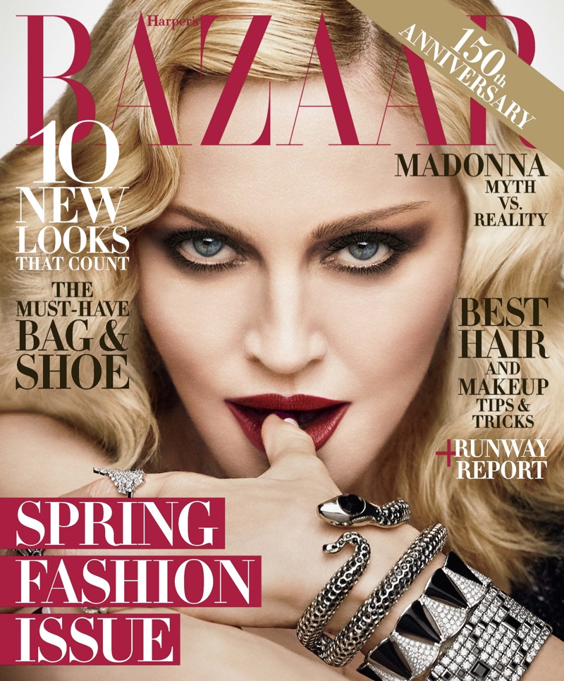 Madonna for Harper's Bazaar february 2017 Cover by Luigi & Iango