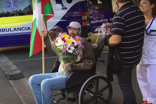 Gaizka Sopelana, a su llegada al hospital de Cruces