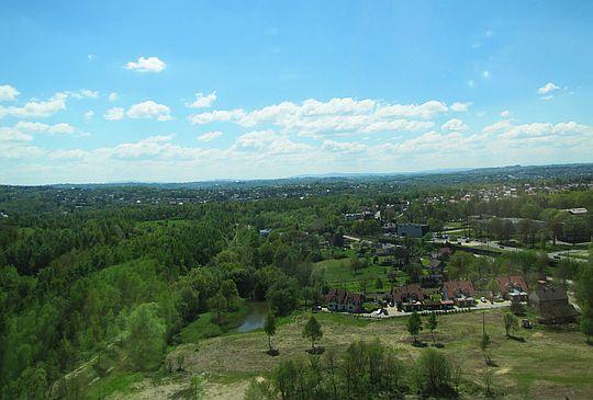 Widok na południe, czyli tam gdzie Tatry.