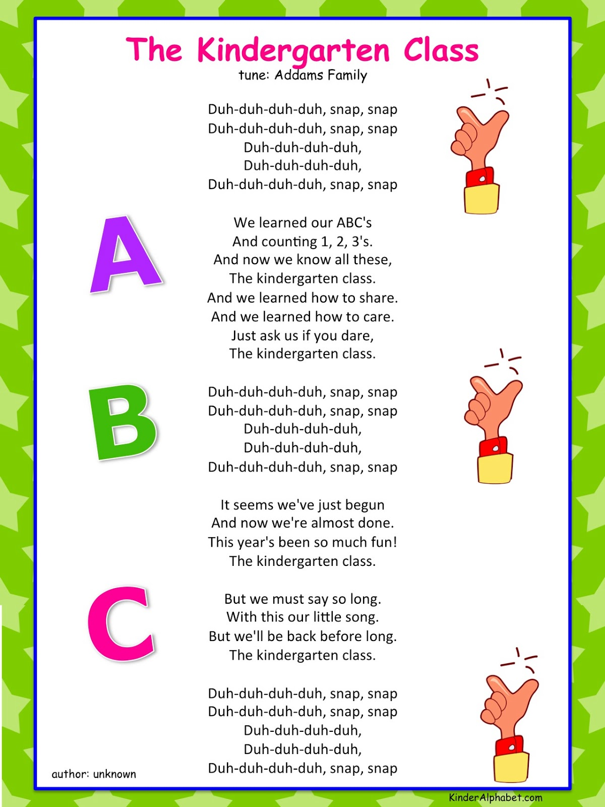 End Of Year Kindergarten Poem For Graduation End Of The