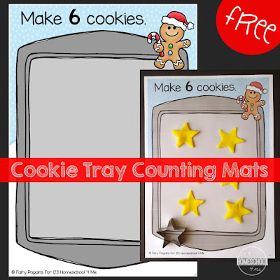 Christmas printables playdough mats for counting