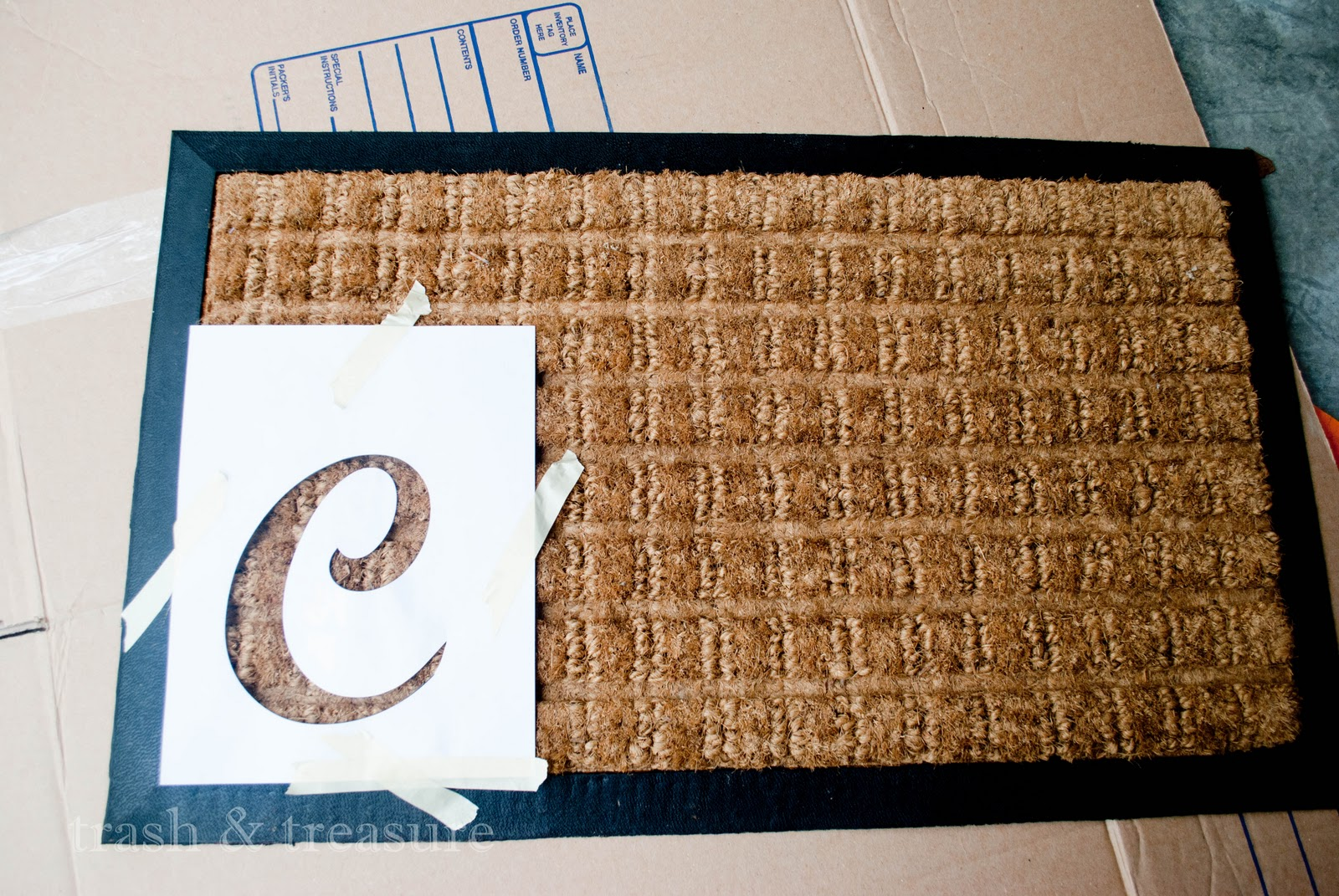 My Trash And Treasure Diy Quicky Doormat Customization
