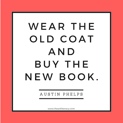 Wear the old coat and buy the new book.
