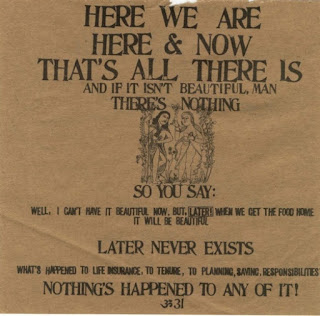 A page from Ram Dass' <em>Be Here Now</em>, 1971.