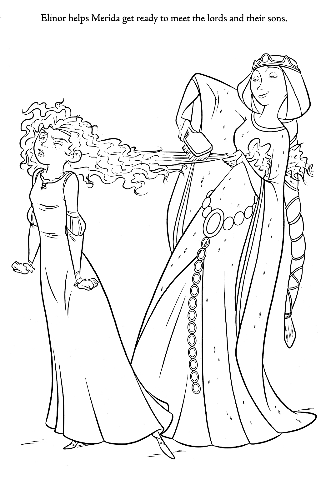 pixar brave coloring pages | brave coloring pages | Minister Coloring