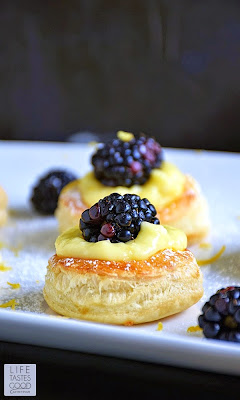 Lemon Blackberry Mini Tarts   by Life Tastes Good