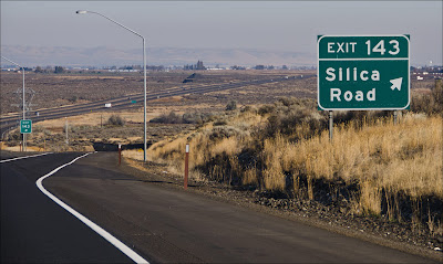 Silica Road exit to Frencman Coulee.