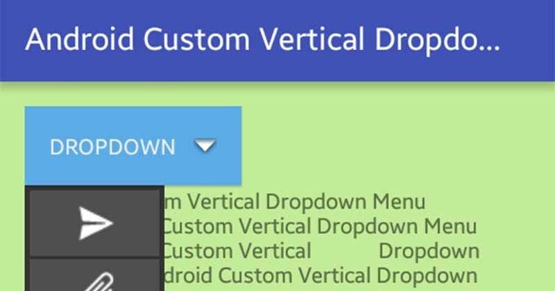 Android custom drop down menu