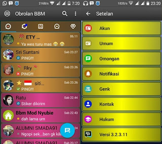 BBM Mod Disco Mix apk - Base UnClone version v3.3.1.24 Terbaru