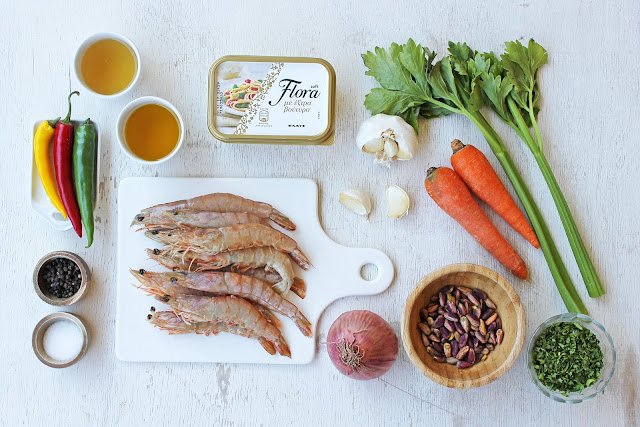 Λιγκουίνι με Γαρίδες και Φυστίκι Αιγίνης