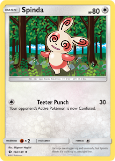 Spinda Sun and Moon Pokemon Card