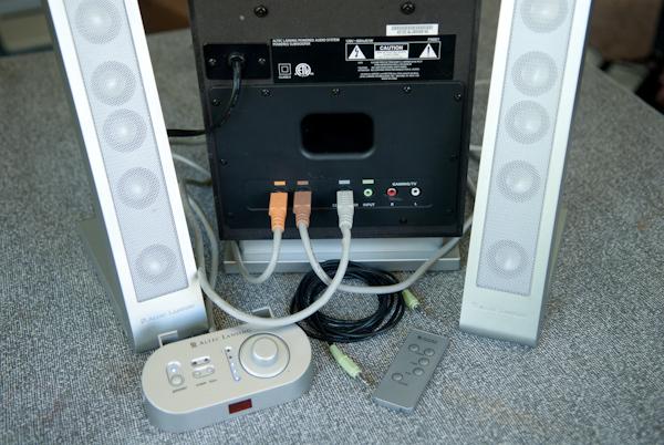 altec lansing fx6021 2 1 computer speakers speaker. Black Bedroom Furniture Sets. Home Design Ideas