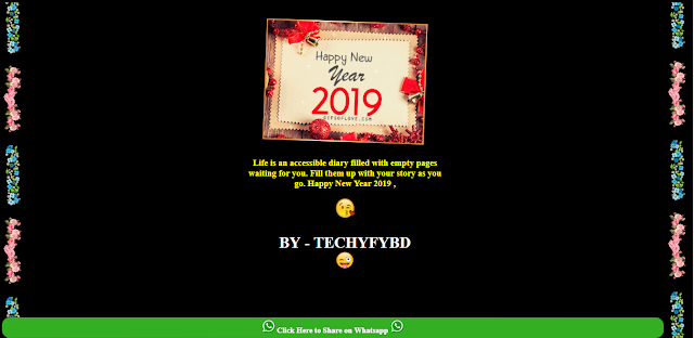 New Year Viral Wishing Script 2019 For Blogger