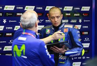 MotoGP Jerez Spanyol: Rossi Tidak Cukup Cepat di Trek Basah dan Kering