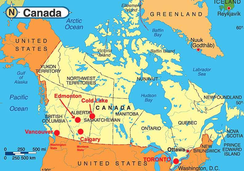 Calgary World Map