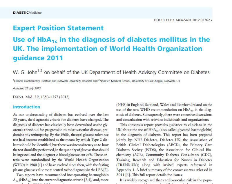síntomas de diabetes hbo1c