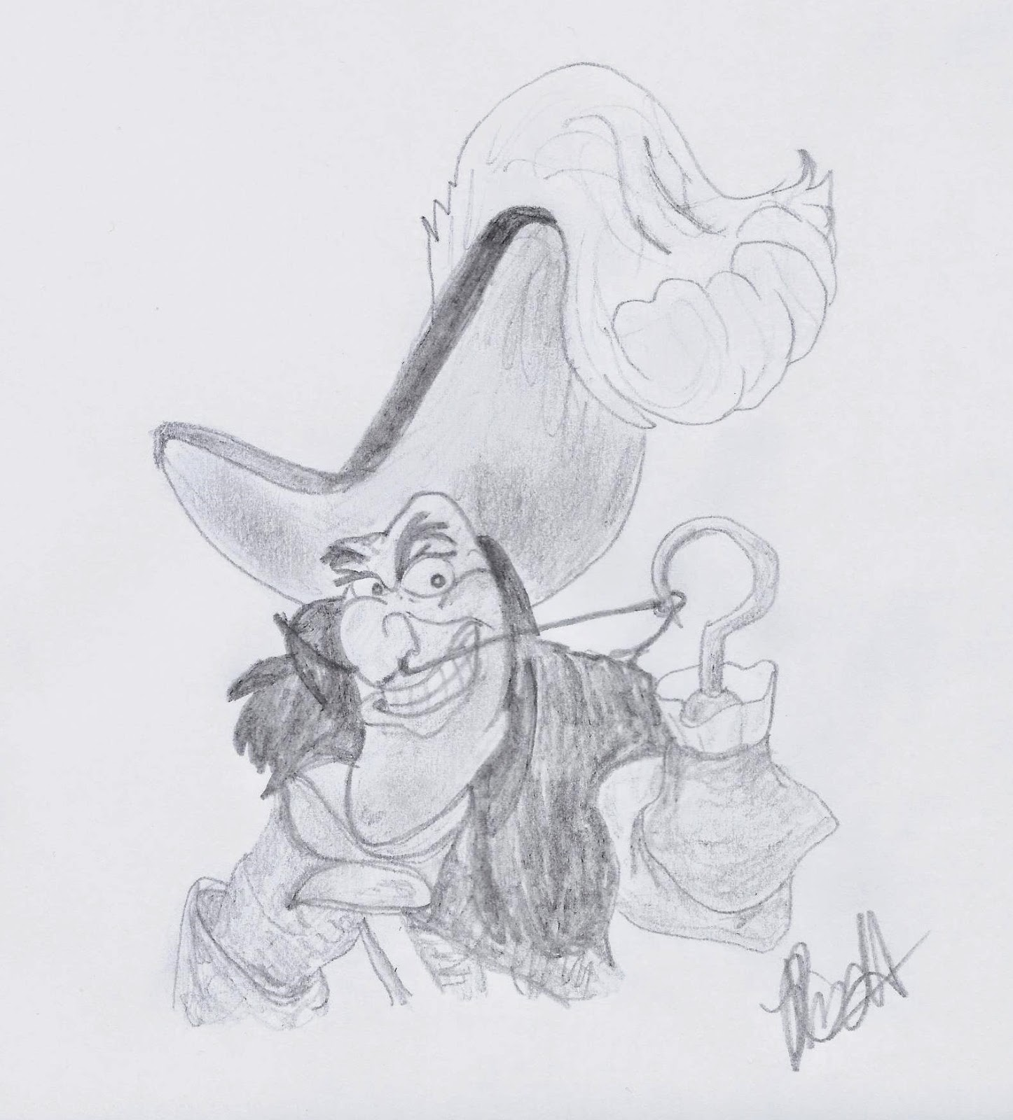 Disney Illustration Study: Captain Hook, www.JoLinsdell.com #Disney #sketch #Sketching