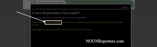 To Log on for NOUNiLearn after Course Registration