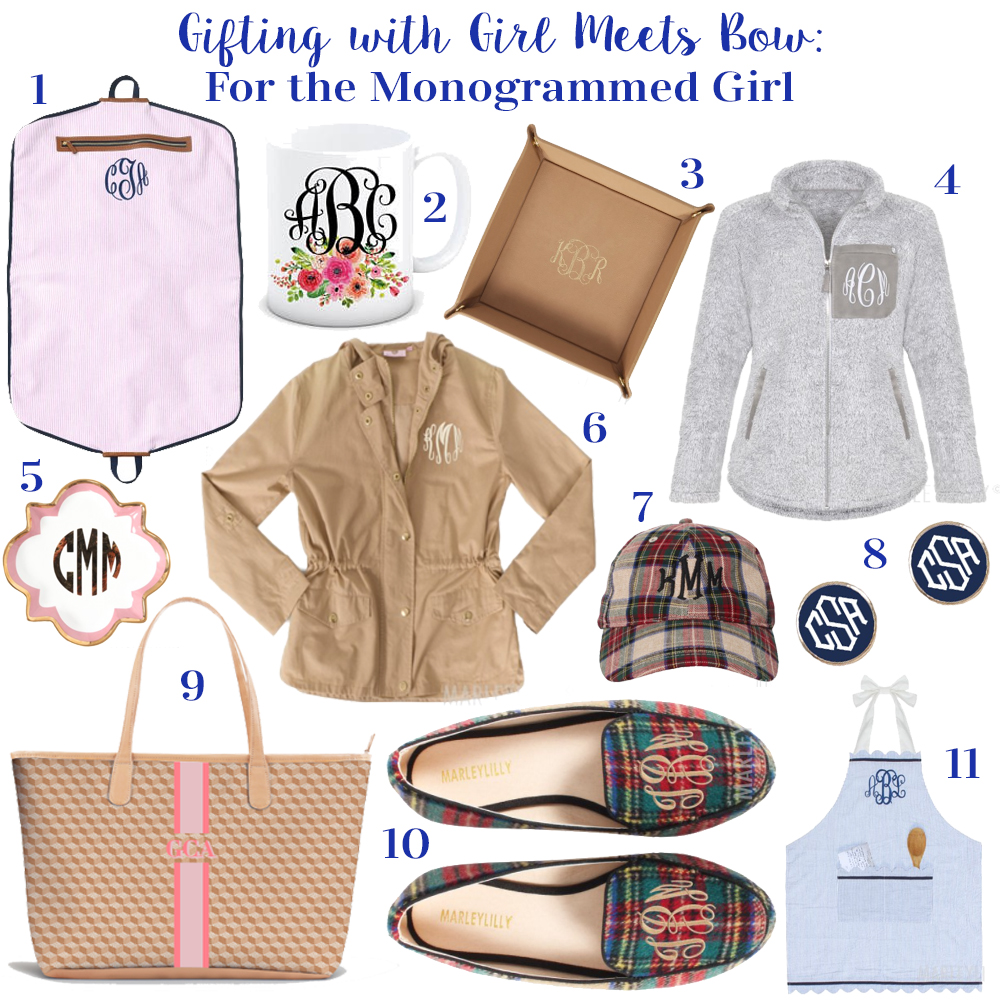 Gifting with Girl Meets Bow: For the Monogrammed Girl
